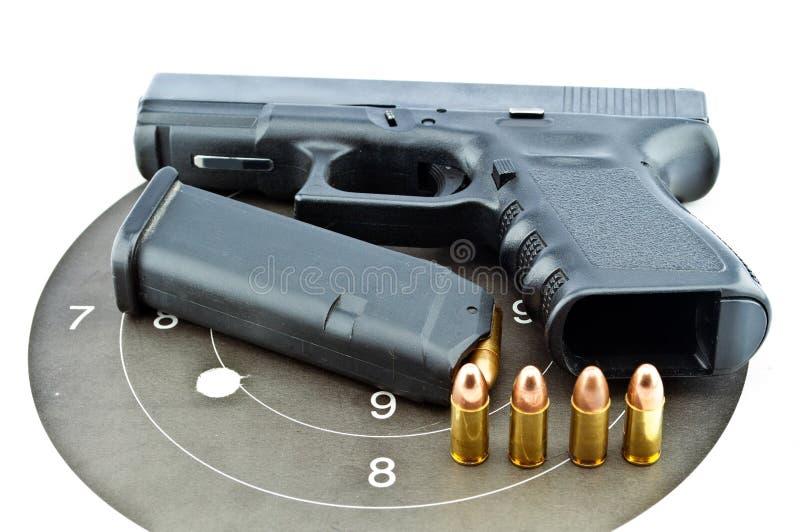 личное огнестрельное оружие 9 mm автоматическое стоковое изображение