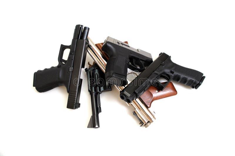 личные огнестрельные оружия стоковые фотографии rf