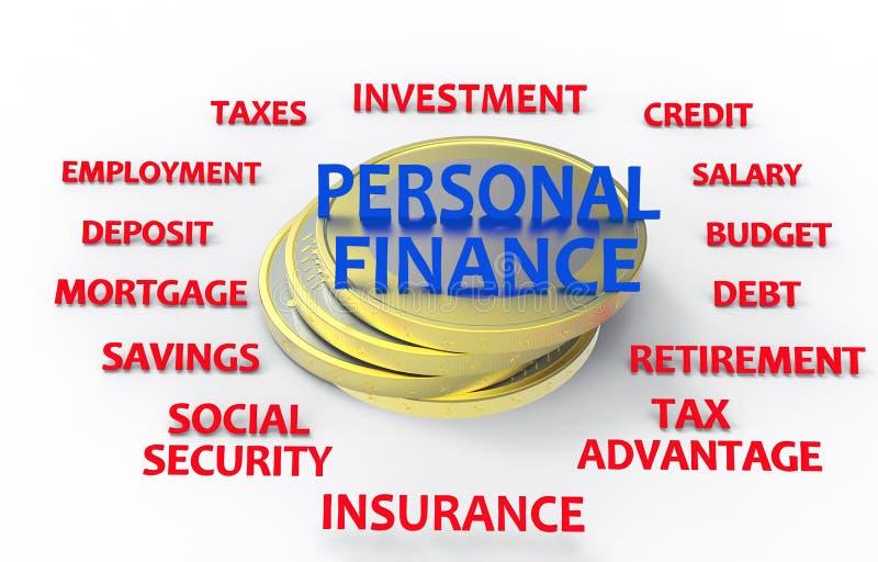 Личные финансы представляют иллюстрация штока