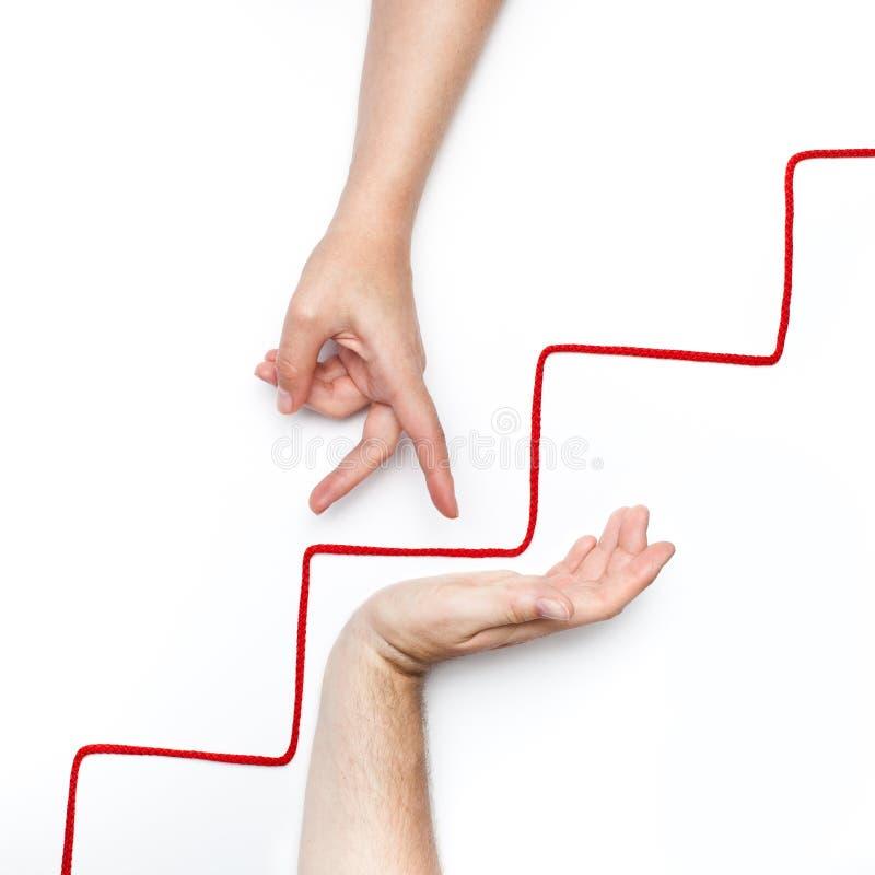Личный рост вверх на лестницах стоковые изображения rf