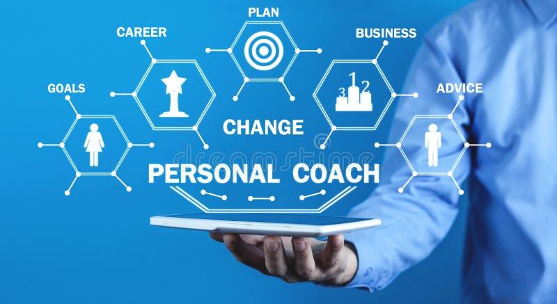 Личный тренер Развитие и достижение r стоковое фото