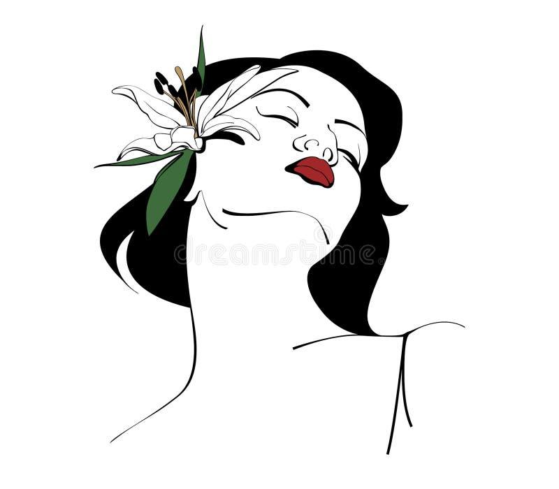 Лилия женщины стоковое изображение
