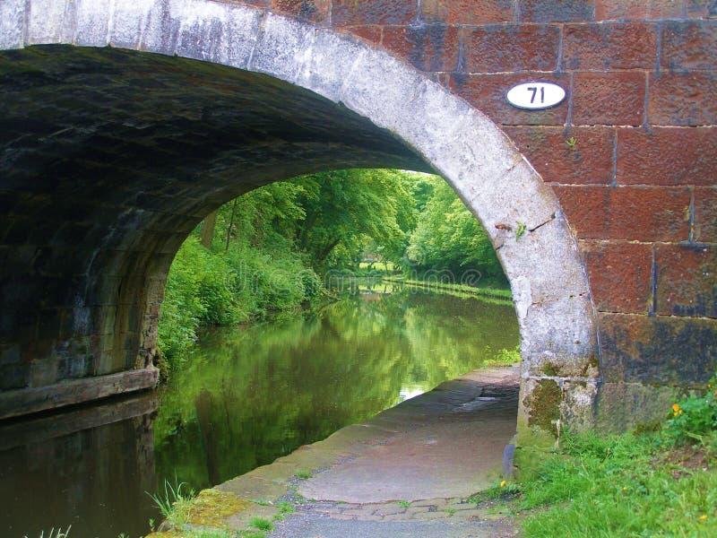Лидс к путям цикла канала Ливерпуля стоковая фотография
