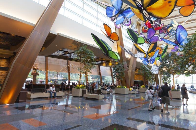 Лобби гостиницы арии в Лас-Вегас, NV 27-ого апреля 2013 стоковые изображения rf