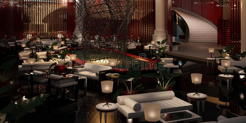 лобби гостиницы вальмы стоковые изображения