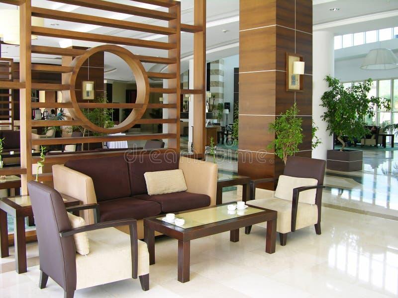 лобби гостиницы самомоднейшее стоковая фотография rf