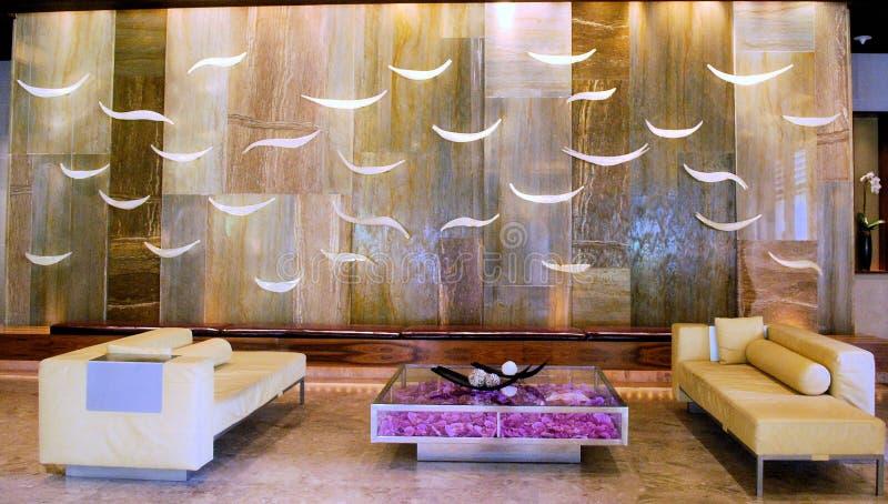 Лобби курортного отеля стоковые изображения rf