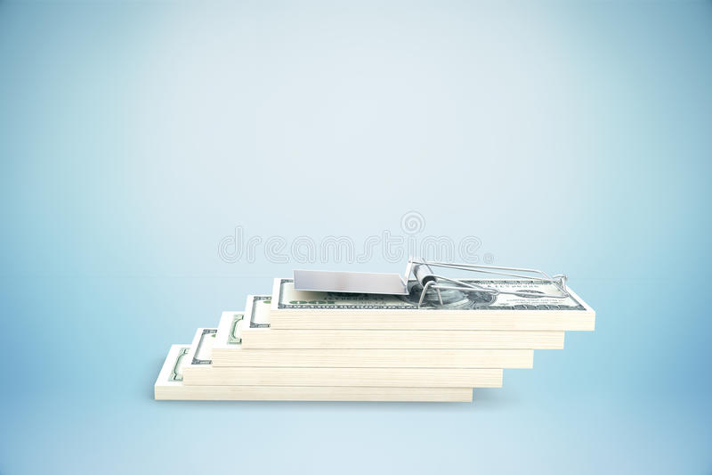Ловушка долларовой банкноты бесплатная иллюстрация