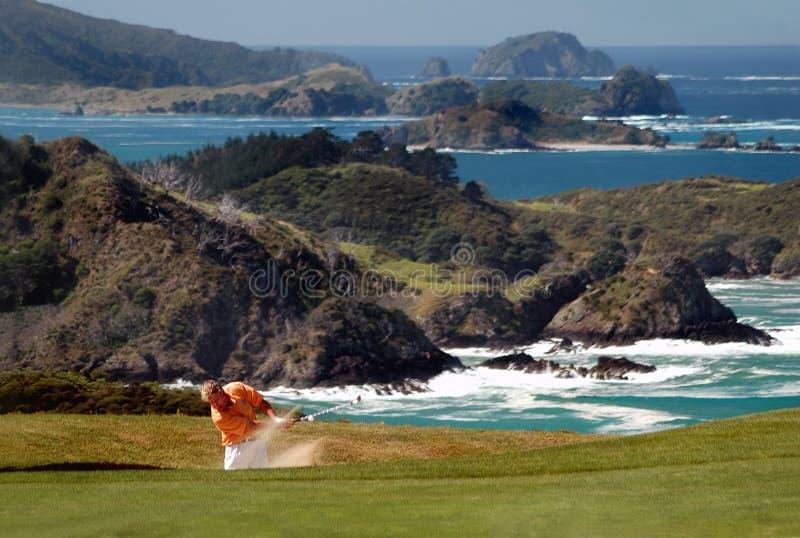 ловушка песка гольфа стоковые фотографии rf