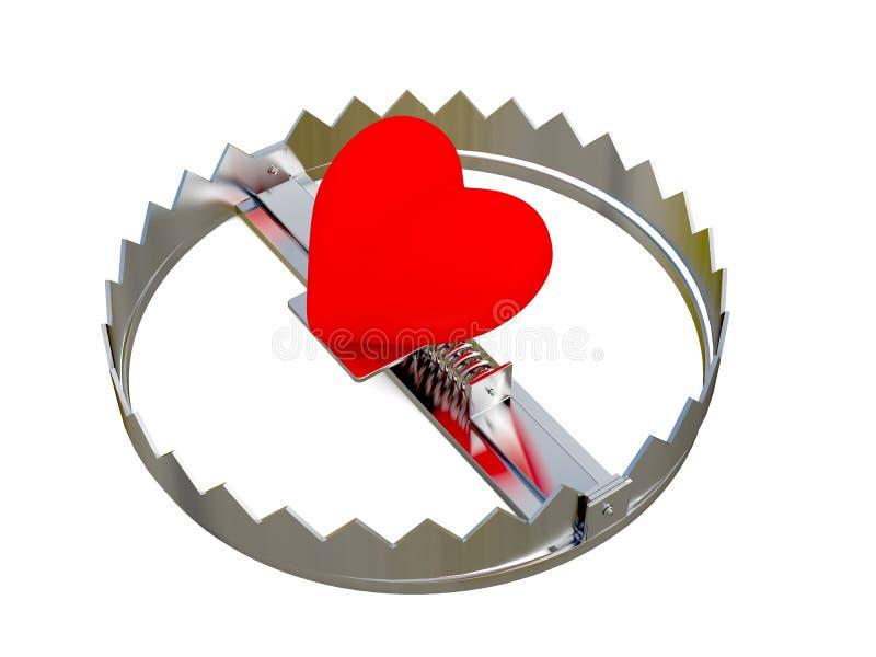 Download ловушка сердца стоковое фото. изображение насчитывающей bounder - 15840024