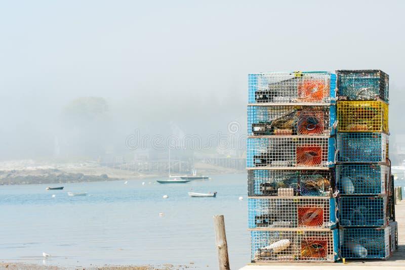 Ловушки омара стоковое изображение rf