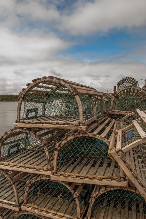Ловушки омара стоковые фотографии rf