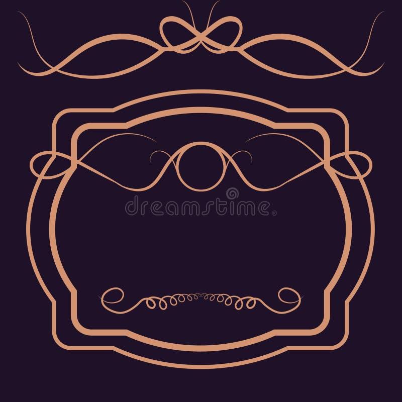Логовид Royal Vintage Shield Иллюстрация с элементами дизайна calligraphyc Luxury иллюстрация вектора