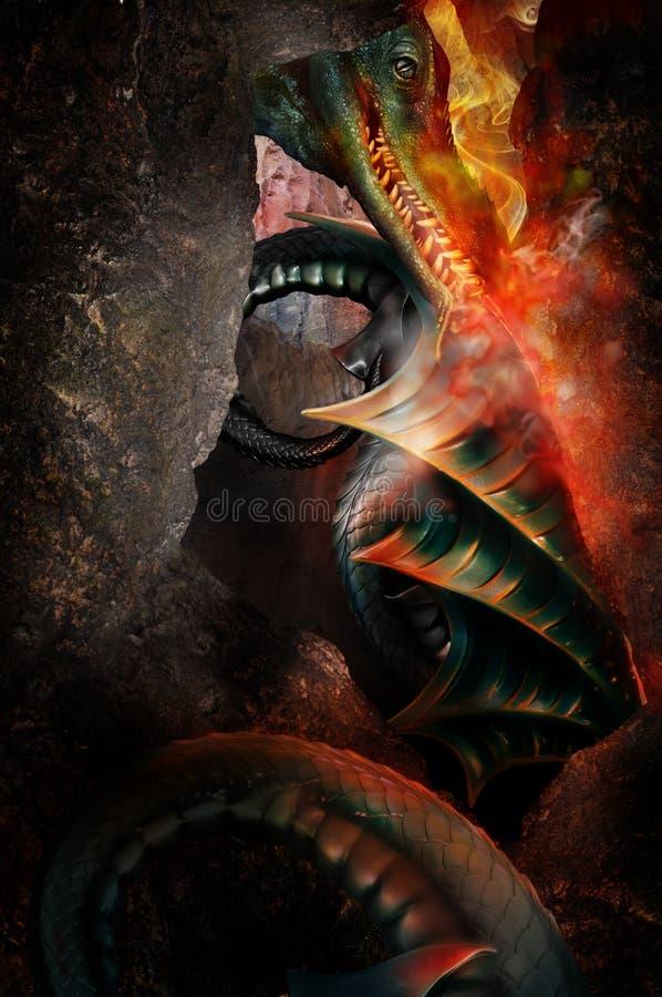 Логово дракона стоковое фото rf