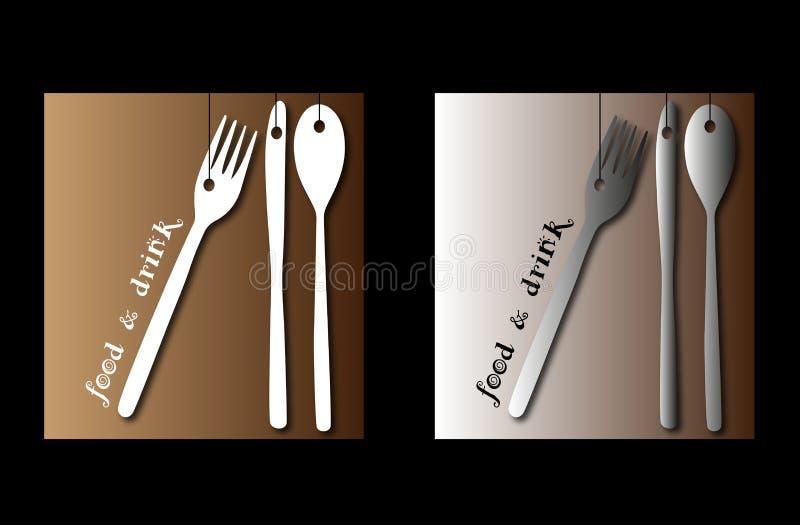 Логосы для поставлять еду иллюстрация штока