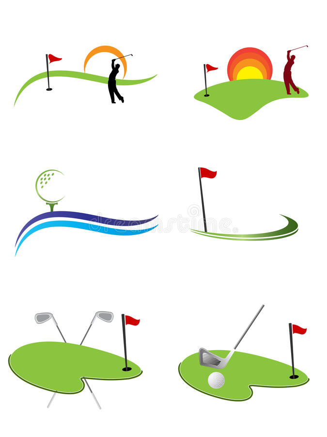 логосы гольфа иллюстрация штока