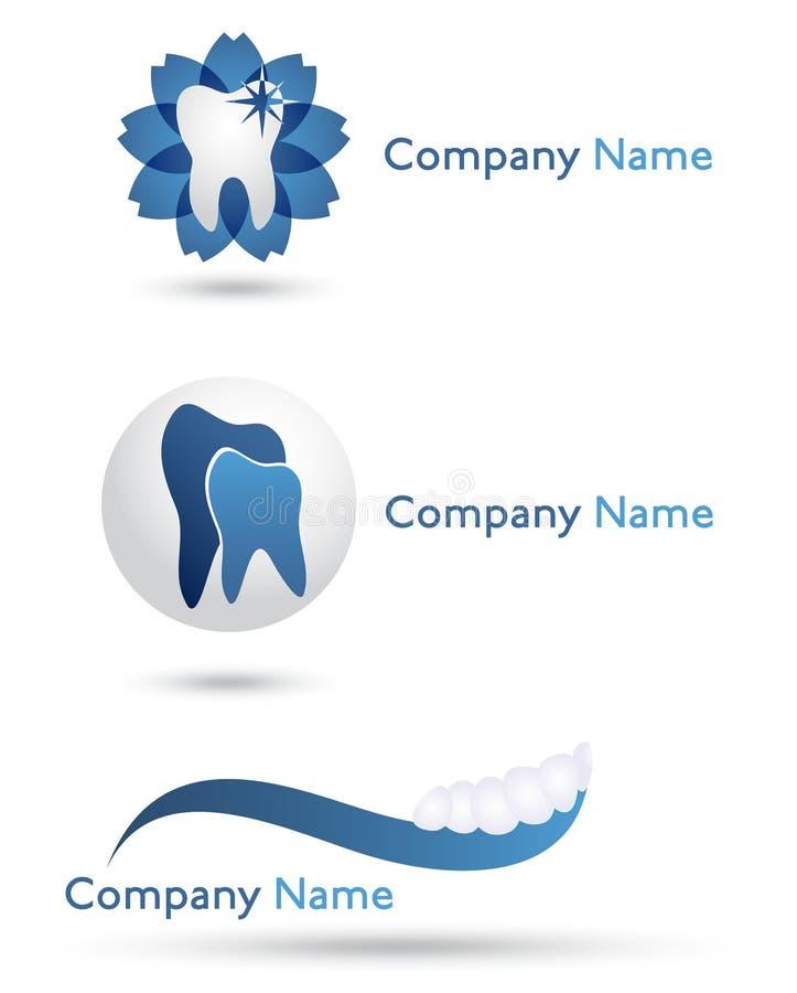 логосы дантиста иллюстрация штока