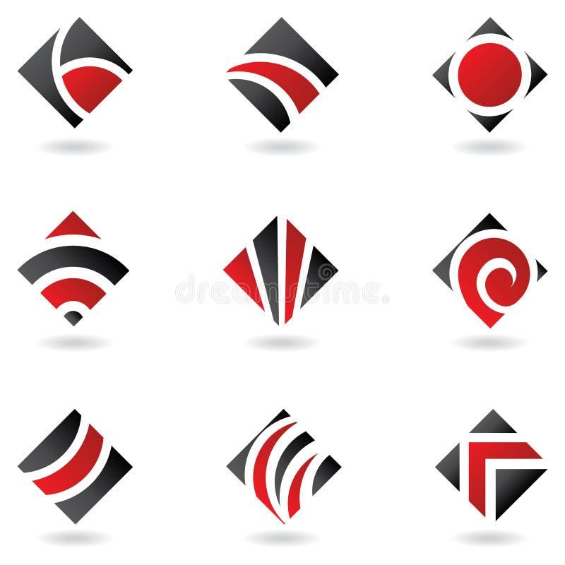 логосы диаманта красные иллюстрация штока