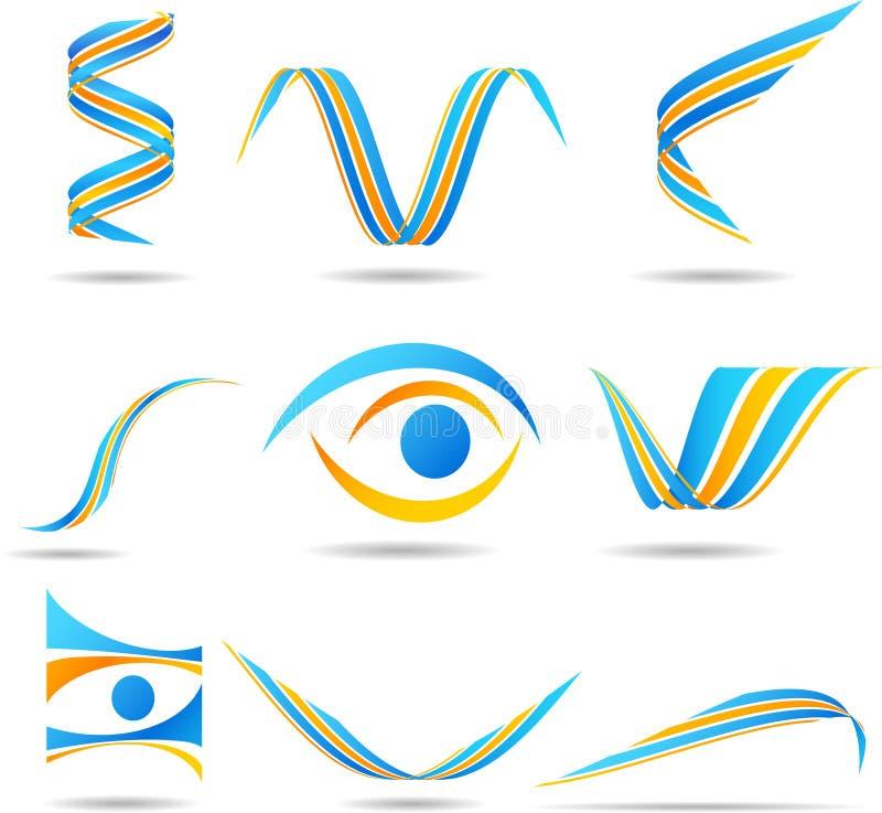 логосы компании установили иллюстрация вектора