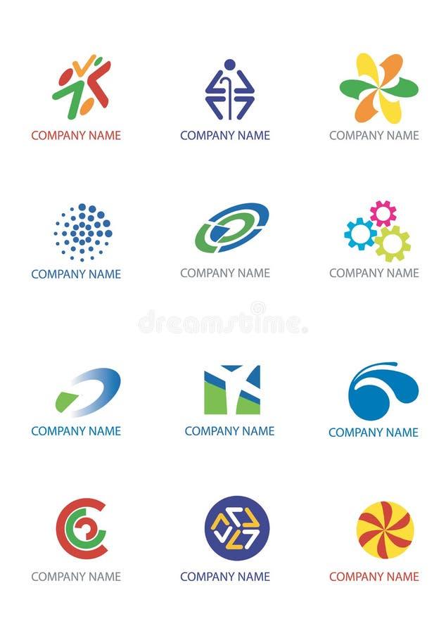 логосы компании иллюстрация штока