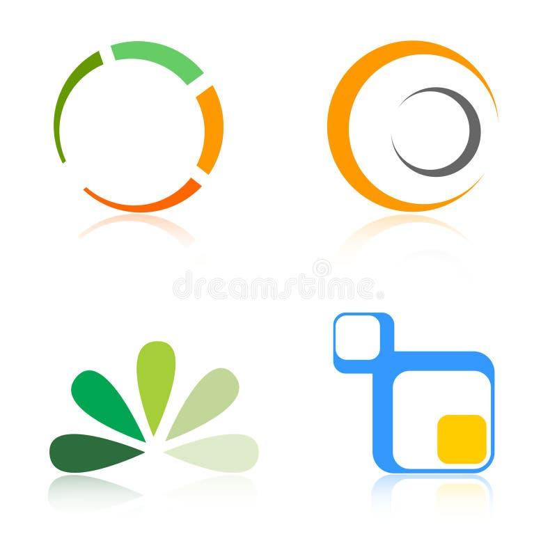 логосы логоса элементов компании бесплатная иллюстрация