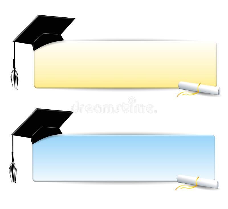 логосы образования знамен иллюстрация штока