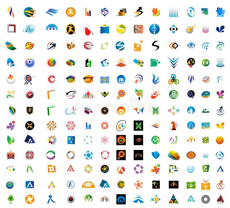логосы самомоднейшие иллюстрация штока