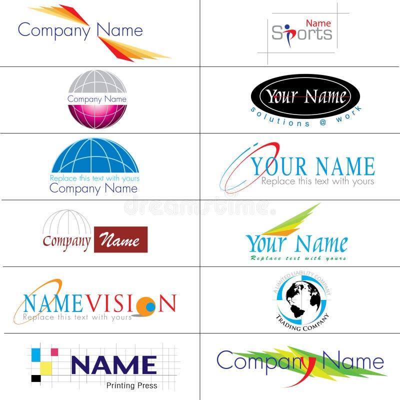 логосы собрания самомоднейшие иллюстрация вектора