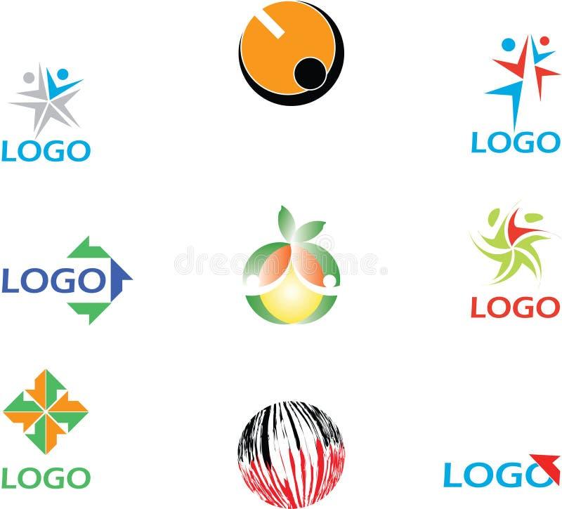 логосы собрания цветастые иллюстрация штока