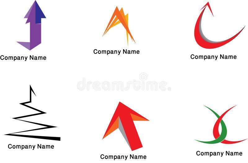 логосы собрания цветастые иллюстрация вектора