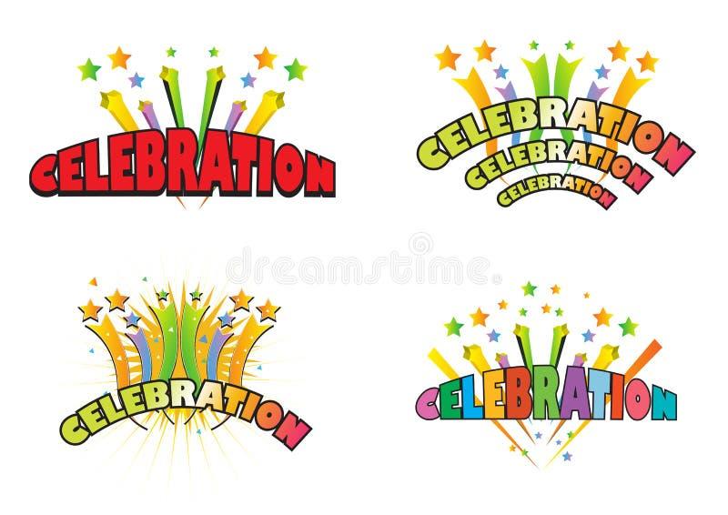 логосы торжества иллюстрация вектора