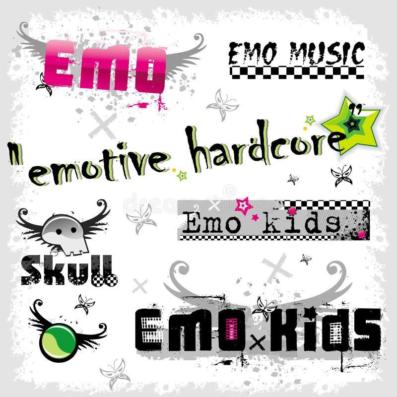 логосы emo иллюстрация вектора