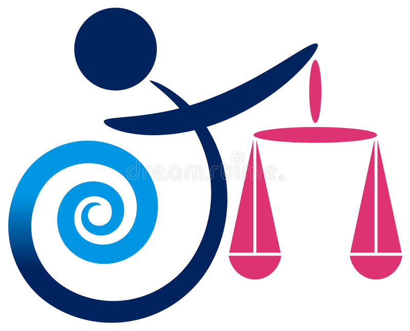 Логос баланса иллюстрация штока