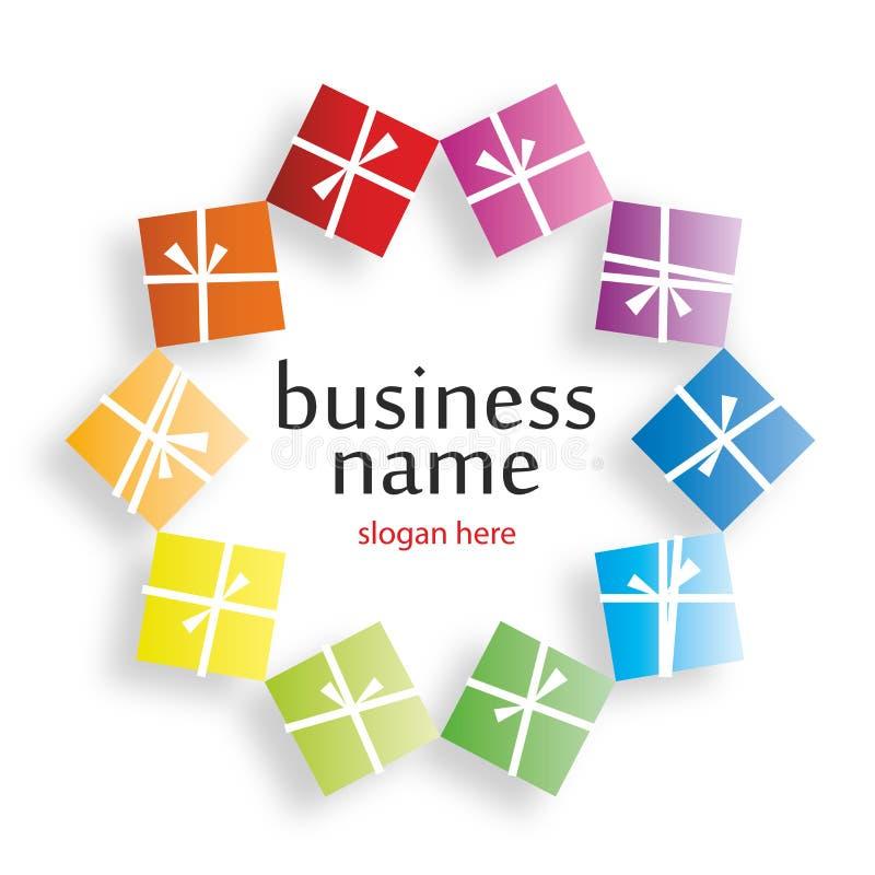 Логос с подарками бесплатная иллюстрация