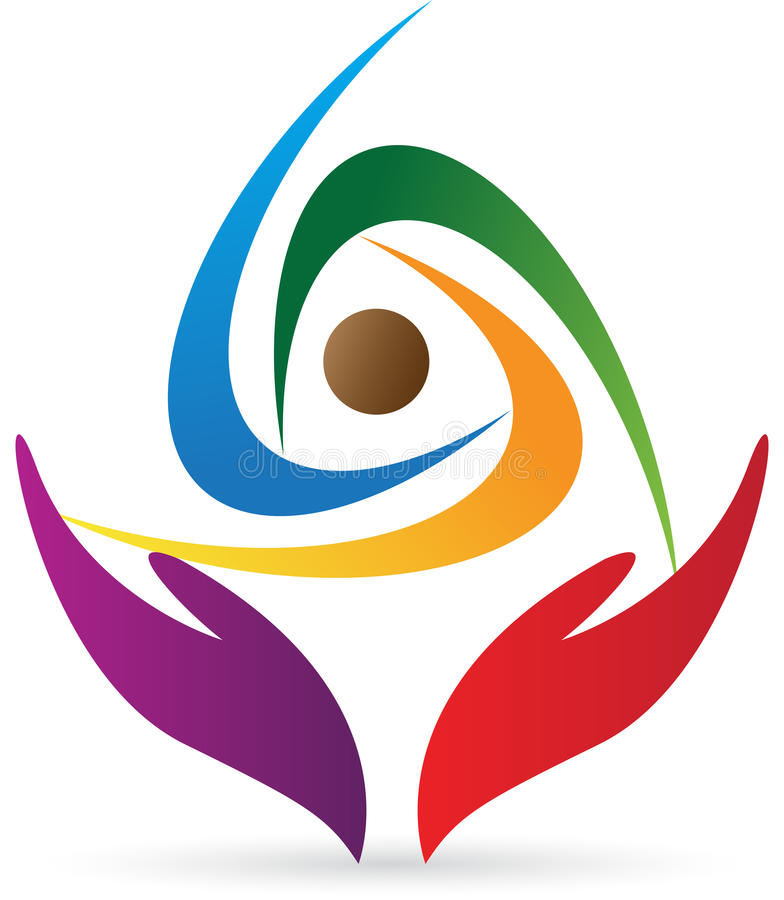 Логос внимательности людей иллюстрация вектора
