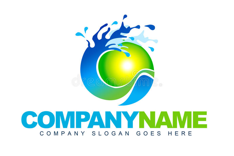 Логос воды иллюстрация вектора