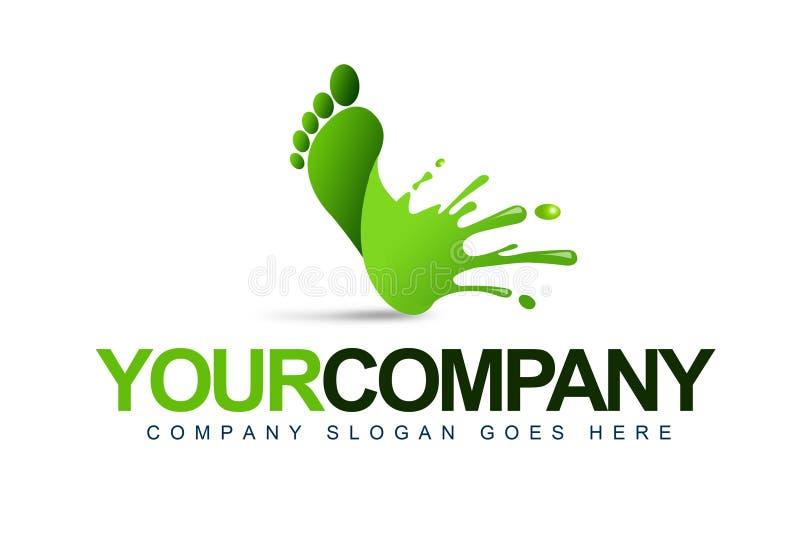 Логос выплеска ноги иллюстрация вектора