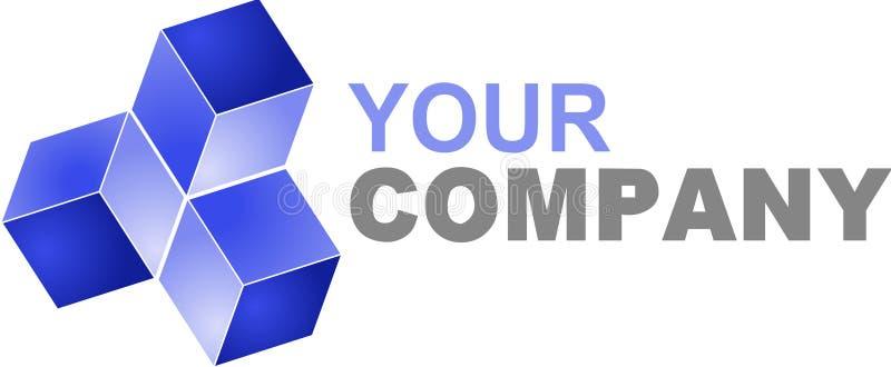 Логос высокотехнологичный иллюстрация штока