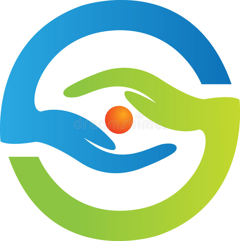 логос глаза внимательности иллюстрация вектора