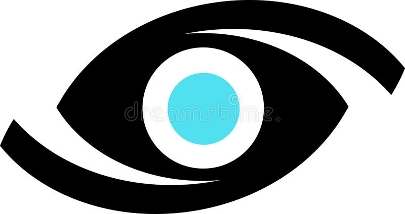 логос глаза иллюстрация вектора