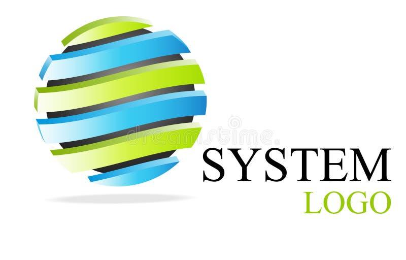 логос голубого зеленого цвета иллюстрация вектора