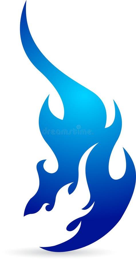 логос голубого пламени иллюстрация штока