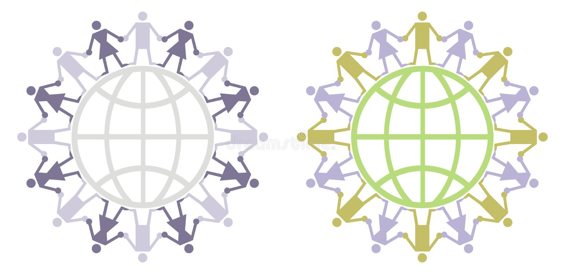 логос гражданина гловальный иллюстрация вектора