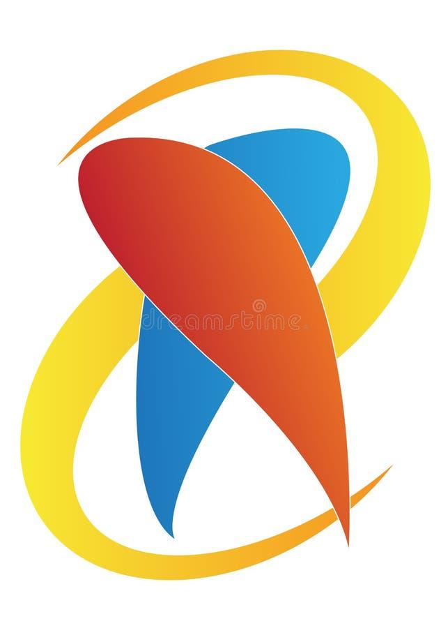 логос дантиста иллюстрация штока