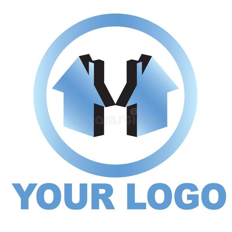 логос дома имущества реальный иллюстрация штока