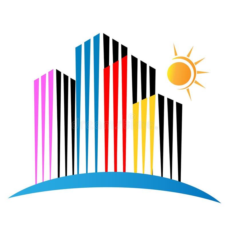 логос зданий самомоднейший иллюстрация вектора