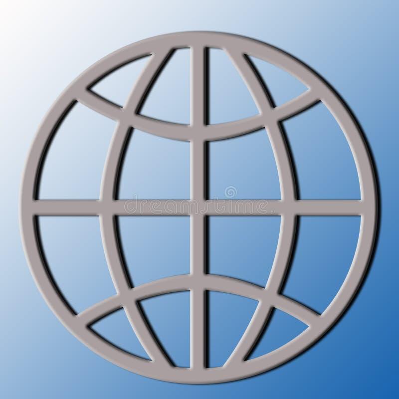 логос земли иллюстрация штока