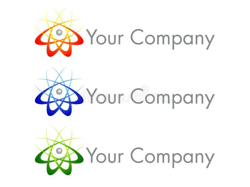 логос иконы конструкции атома бесплатная иллюстрация