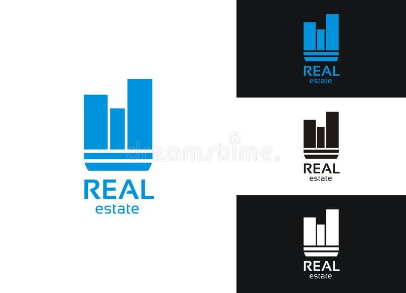 логос имущества реальный стоковые фотографии rf
