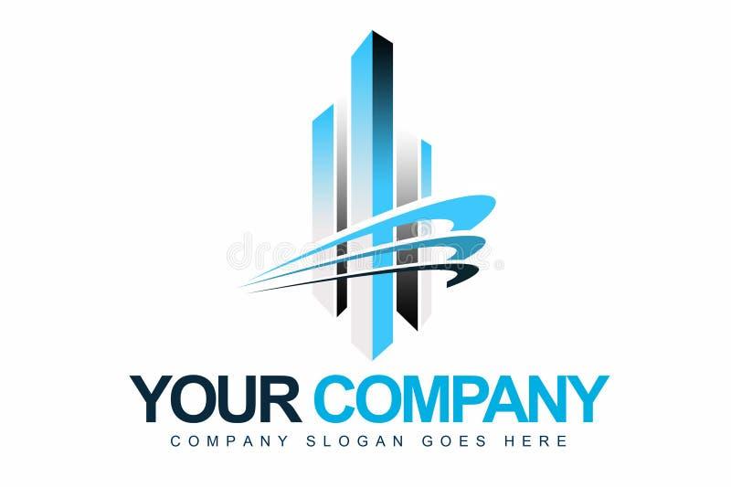 Логос компании дела иллюстрация штока
